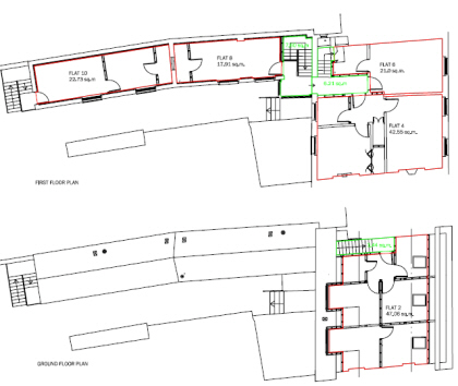 Flats to let - plan
